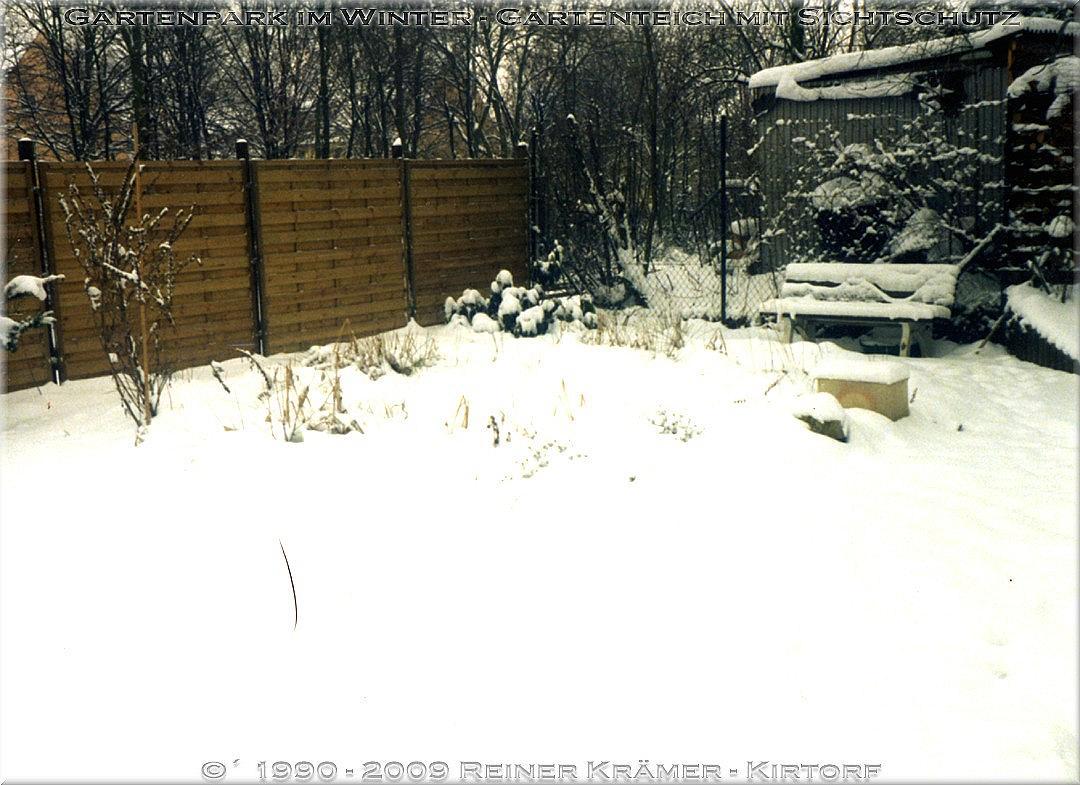 winterliche Episoden im Gartenpark - legen Sie sich einen sch�neren Garten an, es lohnt sich!